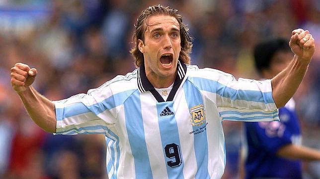Batistuta, con Argentina en el Mundial de Francia, en 1998
