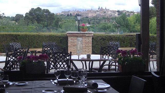 Vista desde el restuarante del camping «El Greco»