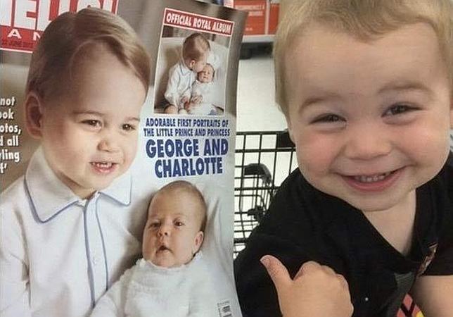 94b5f2c6e La foto viral del niño que piensa que es el Príncipe Jorge