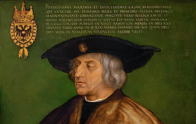 Retrato del Emperador del Sacro Imperio Romano Germánico Maximiliano I de Habsburgo, por Alberto Durero