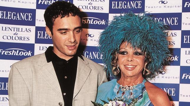 Marujita Díaz junto a su último marido, el cubano Dinio García