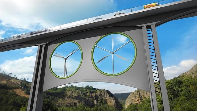 Un equipo europeo de científicos ha estudiado las posibilidades energéticas de instalar aerogeneradores en viaductos en el barranco del Juncal (Gran Canaria)
