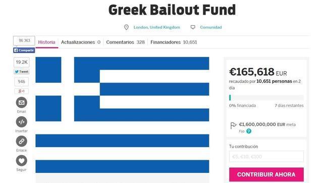 Campaña de crowdfunding para salvar a Grecia