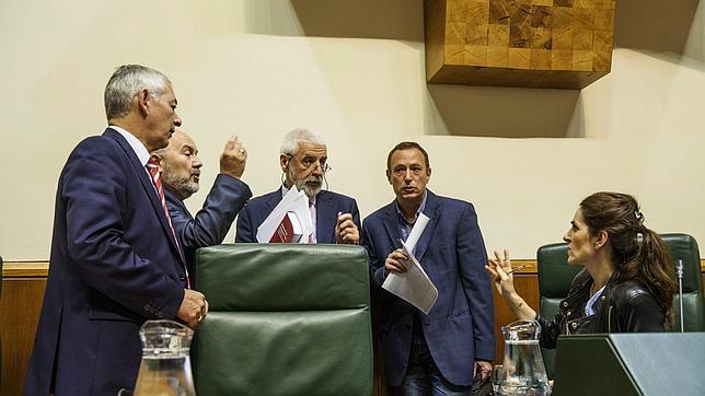 Imagen de archivo de una sesión del Parlamento vasco