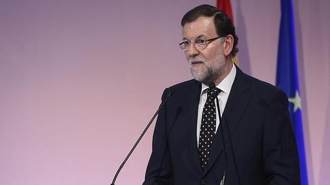 Mariano Rajoy durante la rueda de prensa que ha ofrecido hoy