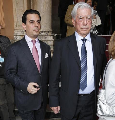 Gonzalo y Mario Vargas Llosa el pasado 2 de mayo en Madrid