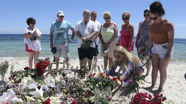 Playa de Túnez donde tuvo lugar el atentado terrorista