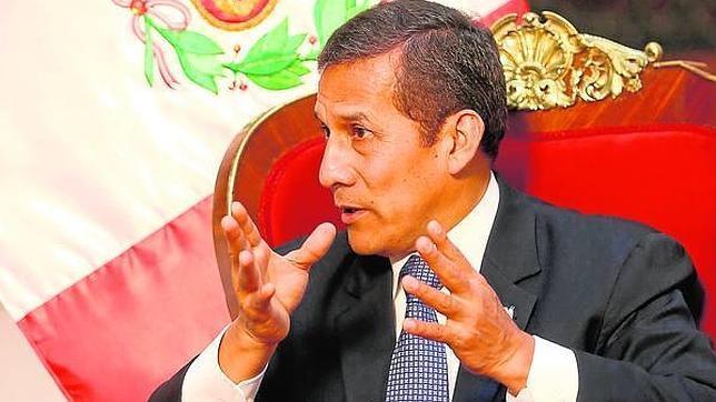 El presidente Ollanta Humala, durante la entrevista en Lima