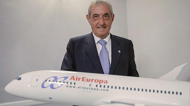 El presidente del grupo Globalia, al que pertenece Air Europa, Juan José Hidalgo