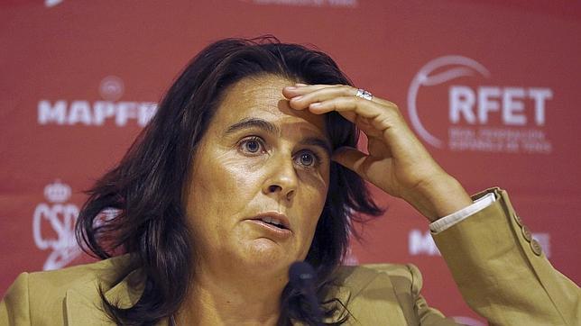 Conchita Martínez, en su presentación como capitana de la Copa Davis