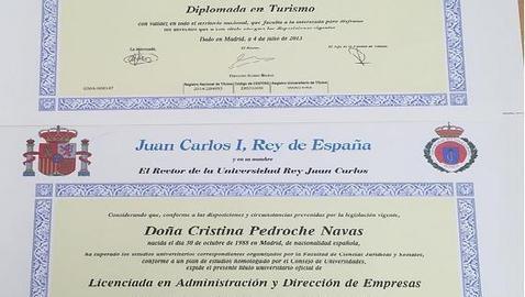 Los diplomas de Cristina Pedroche tras titularse