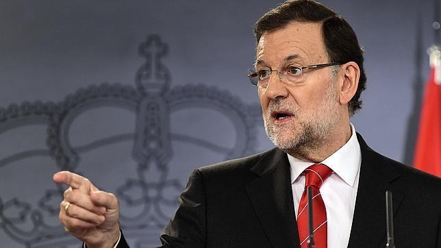 El presidente del Gobierno, Mariano Rajoy, el miércoles pasado en rueda de prensa en La Moncloa