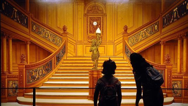 La gran escalinata que conducía a los camarotes de primera clase del transatlántico
