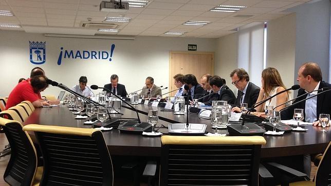 La primera Comisión Permanente Ordinaria de Economía y Hacienda, celebrada este lunes en el Palacio de Cibeles