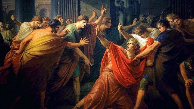 La muerte de Julio César de F. H. Fuger