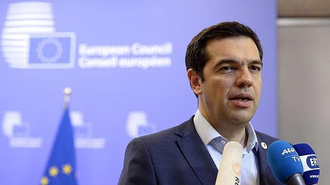 El primer ministro griego, Alexis Tsipras, durante una comparecencia este lunes