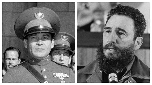 Fulgencio Batista y Fidel Castro