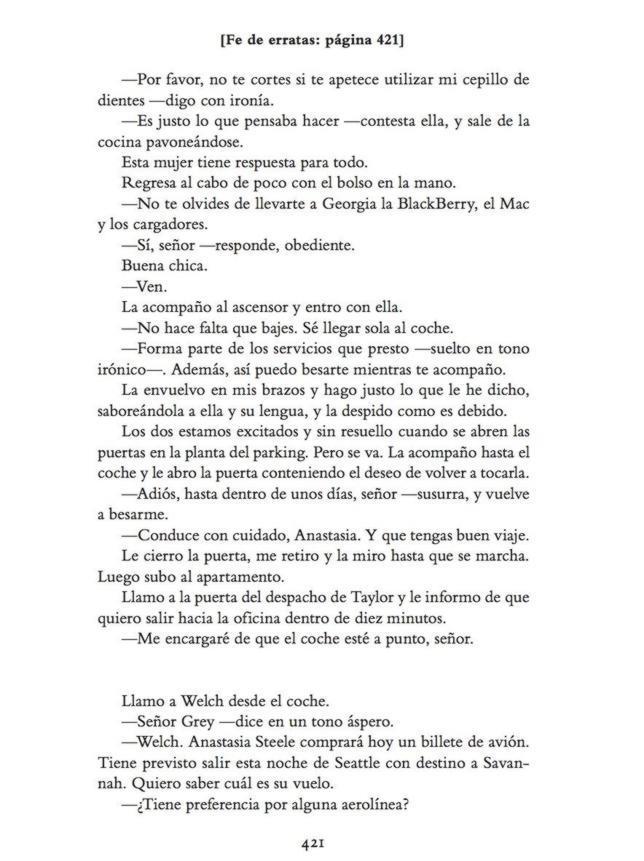 Página 421 del libro «Grey»