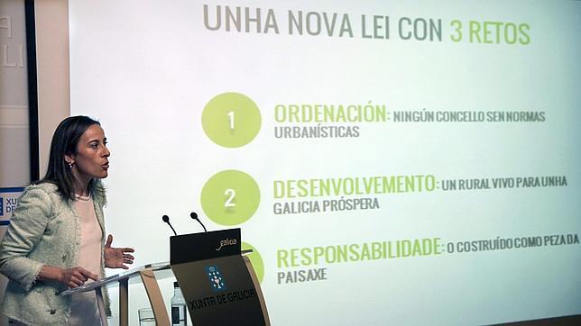 La conselleira de Medio Ambiente, Ethel Vázquez durante la presentación del anteproyecto