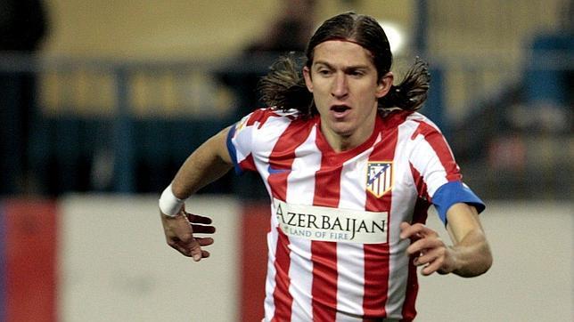 Filipe Luis, en su anterior etapa en el Atlético