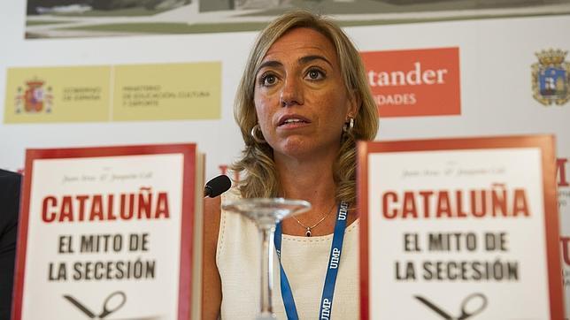 Carme Chacón este miércoles en la UIMP, donde dirige el curso Dilemas de la cohesión territorial en España