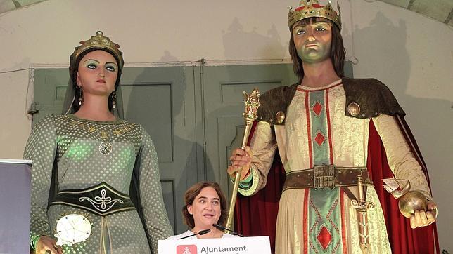 Colau, durante la presentación de la fiesta mayor de Barcelona