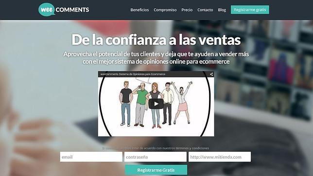 Captura de la web de WeeComments