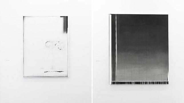 La obra de María Tinaut traslada a la pintura los recursos gráficos y pictóricos que se encuentran en las fotocopias.