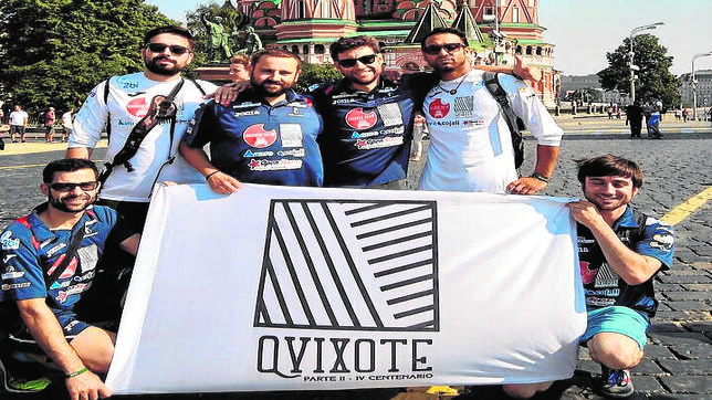 Los integrantes del Quijote Team llegaron el domingo a Moscú