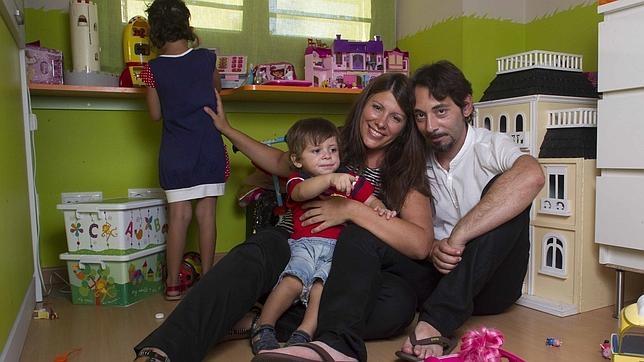 Pilar y Jesús, con Marco y Blanca