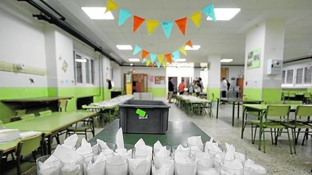 La Comunidad solo cubre el 10,9% de las plazas de comedores escolares