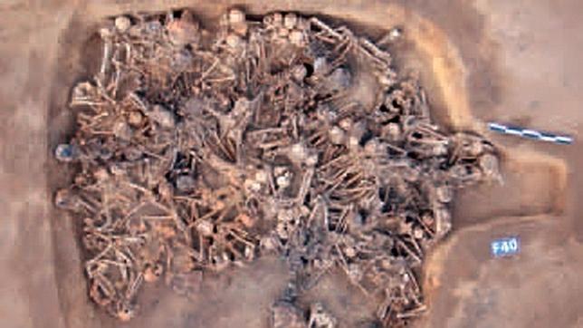 La vivienda fue llenada de cuerpos y, posteriormente, quemada