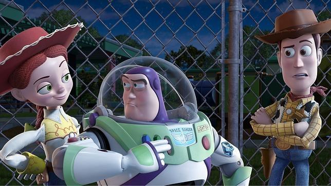 Jessy, Buzz Lightyear y Woody, personajes de la película Toy Story