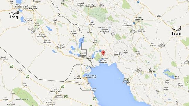 Bandar Mahshahr se encuentra al lado del Golfo Pérsico