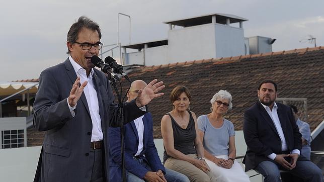 Artur Mas, durante la presentación de la candidatura de Junts pel Sí en pasado mes de julio