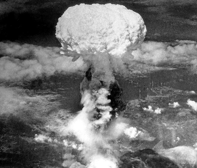 Imagen de la explosión nuclear que se produjo en Hiroshima el 6 de agosto de  1945