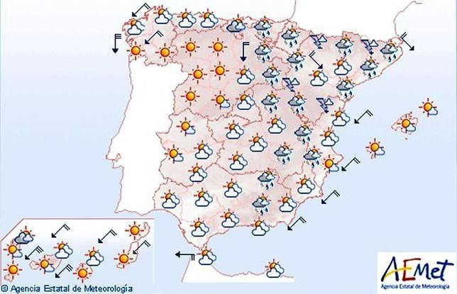 Mapa Del Tiempo España Fin De Semana.Tormentas Y Un Notable Descenso De Las Temperaturas Para