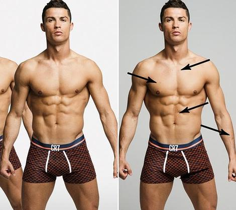 Las fotos sin retocar que demuestran que Cristiano Ronaldo es perfecto