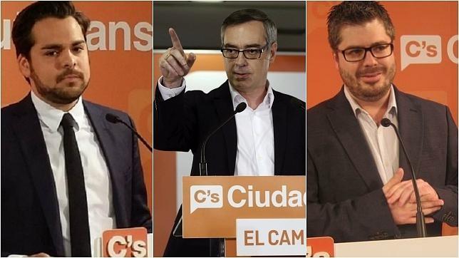 Fernando de Páramo, José Manuel Villegas y Fran Hervías.