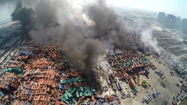Las explosiones de Tianjin, 1.000 veces menos potentes que Nagasaki