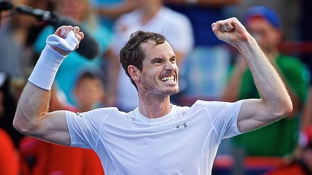 Murray celebra su triunfo en el Masters 1000 de Canadá