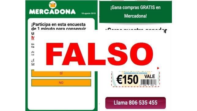 Nuevo fraude sobre supuestas promociones de vales de Mercadona a través de WhatsApp y SMS