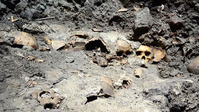 Hallan en México un gran tzompantli, la mayor ofrenda ceremonial de cráneos