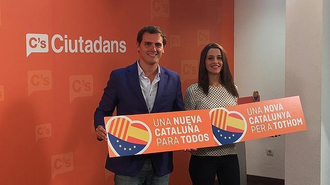 Albert Rivera e Inés Arrimadas, en la presentación de la campaña de Ciudadanos