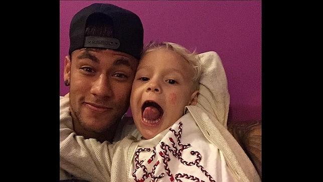 Neymar y su hijo, David Lucca