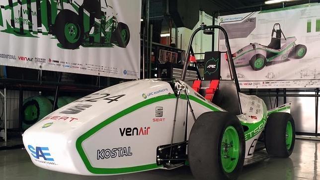 El ecoRZ es uno de los monoplazas españoles que compiten en la Formula Student Spain