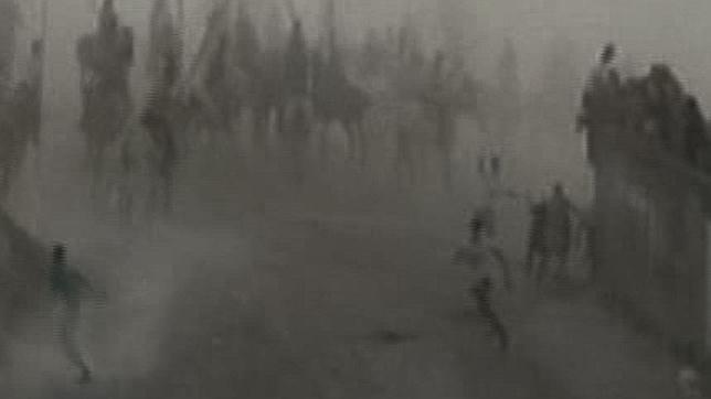 Muere un hombre corneado por un novillo en el primer encierro de Cuéllar (Segovia)
