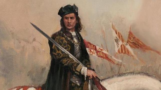 Pintura de el Gran Capitán con su tradicional indumentaria