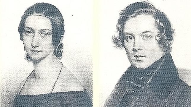 El matrimonio Clara y Robert Schumann