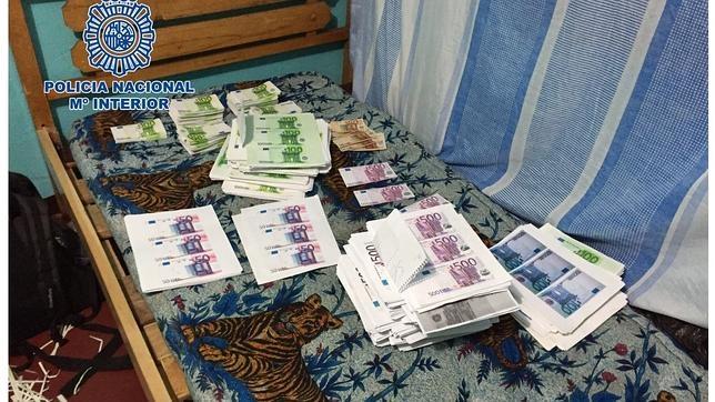 La Policía española desmantela en Colombia una imprenta de dinero falso